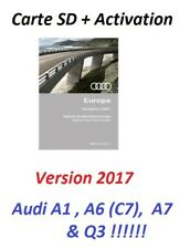 CARTE SD + CODE DOCUMENT D ACTIVATION GPS RMC NAVIGATION AUDI A1 2011-18