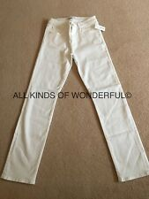 J Brand Amelia Straight Leg  M/Rise in Blanc (white) RRP£195 Brand New With Tags