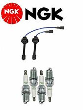 NGK Wire Set + 4 NGK Spark Plugs For Mitsubishi Eclipse L4; 2.4L 2000-2005