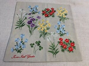 CHARLES GALLEN made in Ireland embroidered linen 16 X 16 pillow cover   NWT