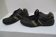 MENS PERRY ELLIS DERRICK BROWN LEATHER CASUAL SHOES FASHION SNEAKERS SZ 10