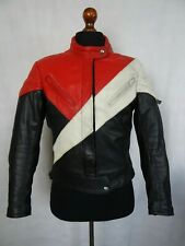 Men's Vintage 1980's Cafe Racer Leather Motorcycle Biker Jacket 42R (M)