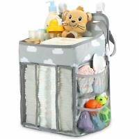 Hanging Diaper Caddy Crib Nursery Organizer Stacker Storage for Newborn Baby