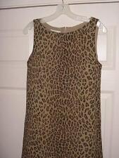 Jones New York Dress Sleeveless Leopard Print Sz: 4