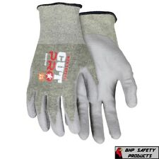 Ansi A5 Cut Resistant Gloves 18 Gauge Shell Polyurethane Coated Palm Work Gloves