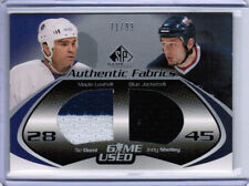 03/04 SP GAME USED TIE DOMI JODY SHELLEY AF DUAL JERSEY /99 TORONTO MAPLE LEAFS