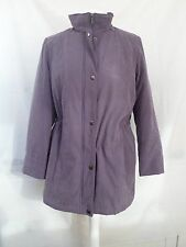 Small (size 12-14) indigo purple quilted mac coat, Bon Marche, worn once, warm