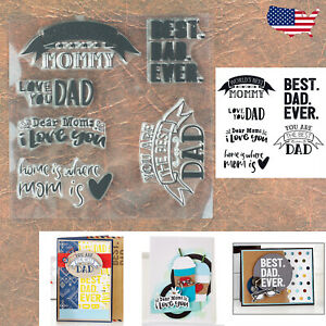 Mother's & Father's Day Sentiments Cling Stamp Set – Mommy Dad Birthdays & More