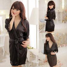 New Women Ladies Sexy Lingerie Nightwear Babydoll Sleepwear Bathrobes With Belt