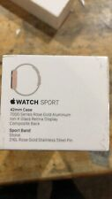 Apple Watch Sport 42mm Rose Gold Case Stone Sport Band - (MLC62LL/A)