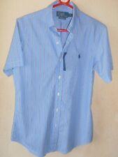 Mens Ralph Lauren Short Sleeve Poplin Shirt Blue Size Small BNWT