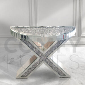 """Crushed Crystal """"X"""" Console Table - FREE DELIVERY"""
