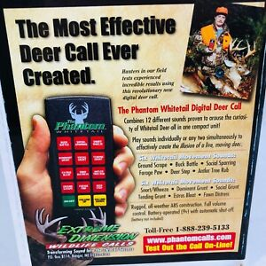 Extreme Dimension Phantom Whitetail Electronic Digital Deer Call NIB