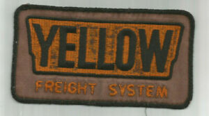 Yellow Freight System truck driver jacket size patch 3-5/8 X 6-3/4 pre 1995
