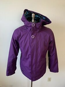 Womens Bonfire Blur Hooded Ski Snowboard Shell Jacket Large Purple
