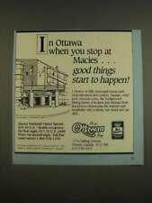 1985 Best Western Macies Ottawan Motel Ad - good things start to happen