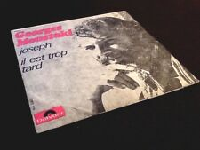 Vinyle 45 tours Georges Moustaki, Joseph   (1969)