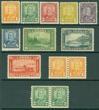 EDW1949SELL : CANADA 1928-29 Sc #149-59, 147-57 Coil pairs Also #160-61 Cat $385