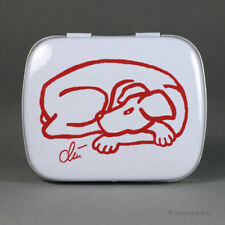 JACQUELINE DITT - Tin Box Dog - Red ltd.Hund Pfefferminz Dose u.1x Mini Druck r
