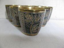 6 RUSSIAN SILVER RICH GILDING NIELLO VODKA CUPS with NIELLO, 239gr  8,43oz