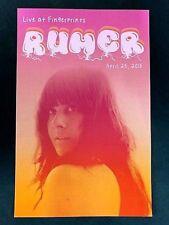 Rumer - Live At Fingerprints 4/25/15 Concert Poster LTD. Original Press La Honda