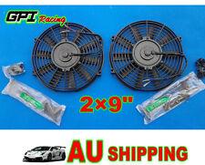 """2 × 9"""" 9 inch Universal Electric Radiator  Intercooler Fan + mounting kit"""