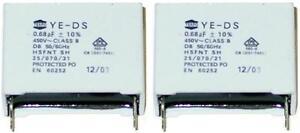4 MKP Kondensatoren 0,68µF 450Volt ~  RM 27,5mm