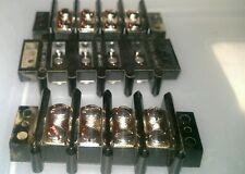 10 BAKELITE ELECTRICAL TERMINAL BLOCKS 8 POST KULKA SMITH # 603 NOS 10 PCS