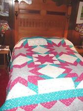 Huge New Handcrafted Crochet Afghan Blanket Bedspread ~ very nice one of a kind