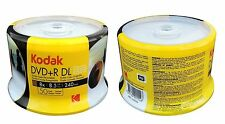 200 KODAK 8X Blank DVD+R DL Dual Double Layer White Inkjet Printable 8.5 GB Disc