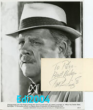 "PAT HINGLE Vintage Original 1979 ""RED RYDER?"" Photo & AUTOGRAPH CARD Batman Star"