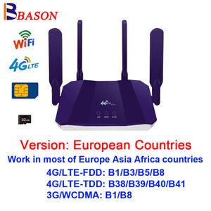 Unlocked 300Mbps 4G LTE Wifi Router Mobile Wireless WiFi Hotspot RJ45 LAN Port