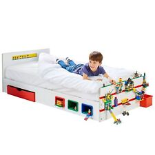 ROOM 2 BUILD SINGLE BED STORAGE KIDS WITH BUILDING BRICK FEATURES