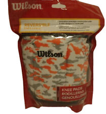 Wilson deluxe volleyball knee pads orange camo reverisble deluxe Adult size