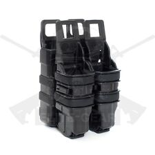 Black Fast Attach MOLLE System Rifle 5.56 Mag/Pistol Double Magazine Pouch Set