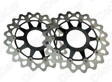 1 Pair Front Brake Disc Floating Rotors For Honda CBR 1000 RR 2008-2013 Black