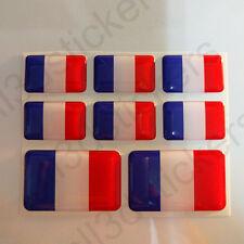 Pegatinas Francia Pegatina Bandera Francesa Vinilo Adhesivo 3D Relieve Resina
