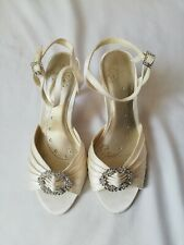 VGC Wedding Collection White High Heels Shoes Party Prom Bridesmaids Sparkle 4