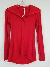 Lululemon Red Long Sleeve Long Sleeve Running Polo Shirt Sz 2