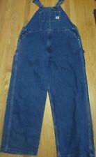 Carhartt Blue Denim Carpenter Jeans Bib Overalls Mens Size 36 X 30 Zip Fly