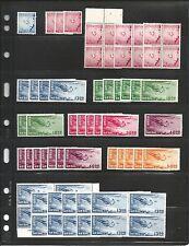 Ryukyu Islands Scott #C1//E1:  Dealer residual of mint yen denom. airmail issues