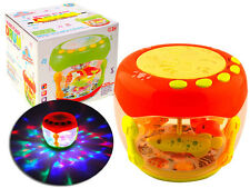 Interactive Toy Music Flash Drum Projection Lamplight for kids gift present