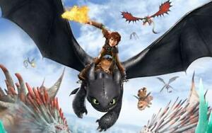 Poster how to Train Your Dragon 3 Toothless Fury White Film #7