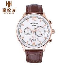 Holuns Luxury Men Quartz Watch Lumious Chronograph Calendar Business Watch WR50m