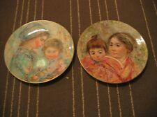 Lot of2 Edna Hibel Royal Doulton Plates 1973 Colette & Child 1974 Sayuri & Child