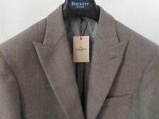HACKETT MAYFAIR beige SS2018 FOX BROTHERS wool Basketweave blazer 40R/50R RRP600