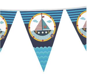 Sailing Nautical Birthday Banner 2.5M Party Supplies Happy Birthday Boat Anchor