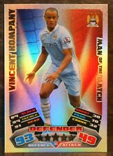 Vincent Kompany Manchester City Man of the Match football trading card 2011/2012