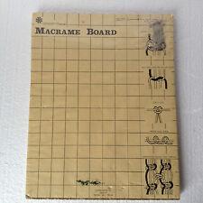 "Vintage Macrame Project Board - BY: CRAF-Trims- 12"" X 15 x 1/2"" Macrame Craft"