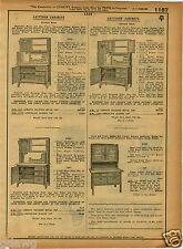 1921 PAPER AD Quaker Maid Kitchen Cupboard Cabinet Hoosier Type Style Flour Bin